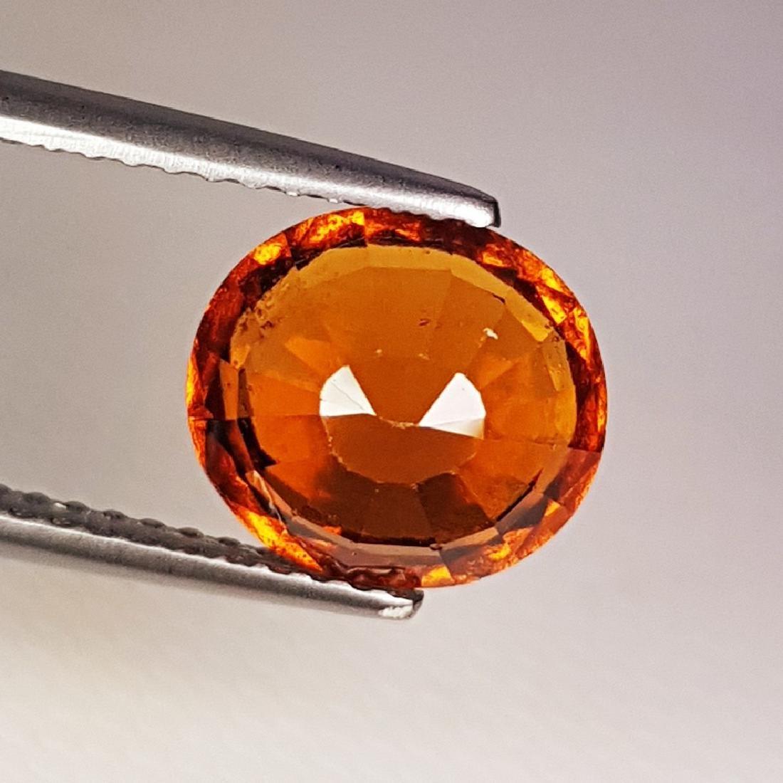 3.00 ct AAA Gem Natural Hessonite Garnet - 4