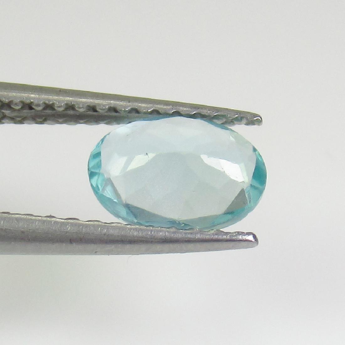 0.69 Ctw Natural Bluish Green Apatite 7X5 mm Oval Cut - 2