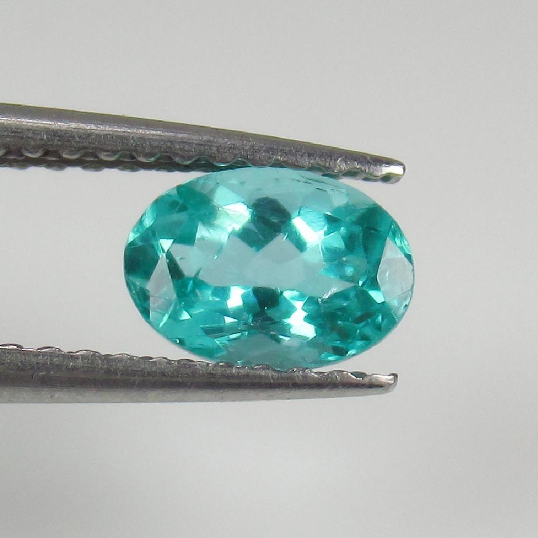 0.70 Ctw Natural Bluish Green Apatite Oval Cut