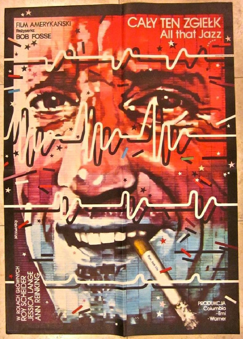 ALL THAT JAZZ - ORIGINAL 1982 1ST POLISH RELEASE POSTER