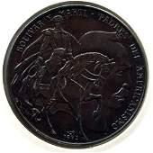 1993 CUBA 1 Peso BOLIVAR & MARTI UNC Antiqued finish