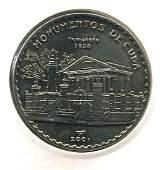 2001 CUBA 1 Peso TEMPLETE UNC