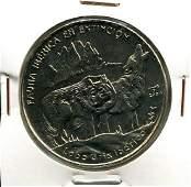 2004 CUBA 1 Peso WOLF UNC