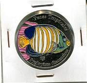 2006 CUBA 1 Peso PYGLOPITES DIACANTHUS UNC Colored