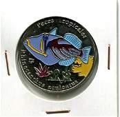 2006 CUBA 1 Peso RHINECANTHUS ACULEATUS UNC Colored