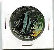2006 CUBA 1 Peso ZANCLUS CANESCENS UNC Colored