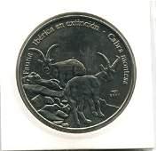 2007 CUBA 1 Peso IBERIAN IBEX UNC