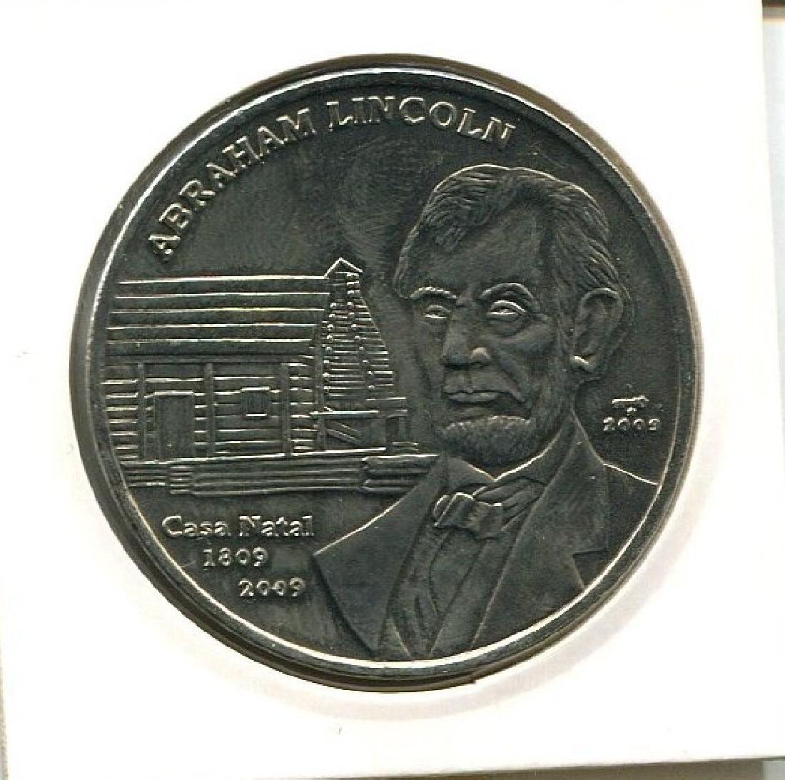 2009 CUBA 1 Peso ABRAHAM LINCOLN - CASA NATAL UNC
