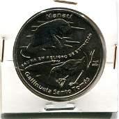 2009 CUBA 1 Peso MANATI - GALLINUELA UNC