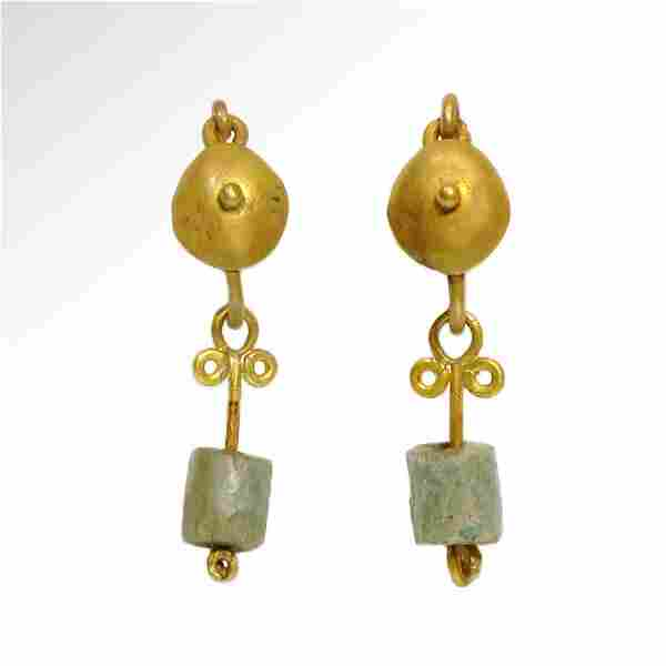 Roman Gold Earrings, c. 2nd Century A.D.