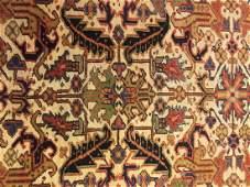 Semi-Antique Persian Heriz 9.8x7.7