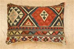 Fine Antique CAUCASIAN KILIM Rug Very Soft Pillow 1'
