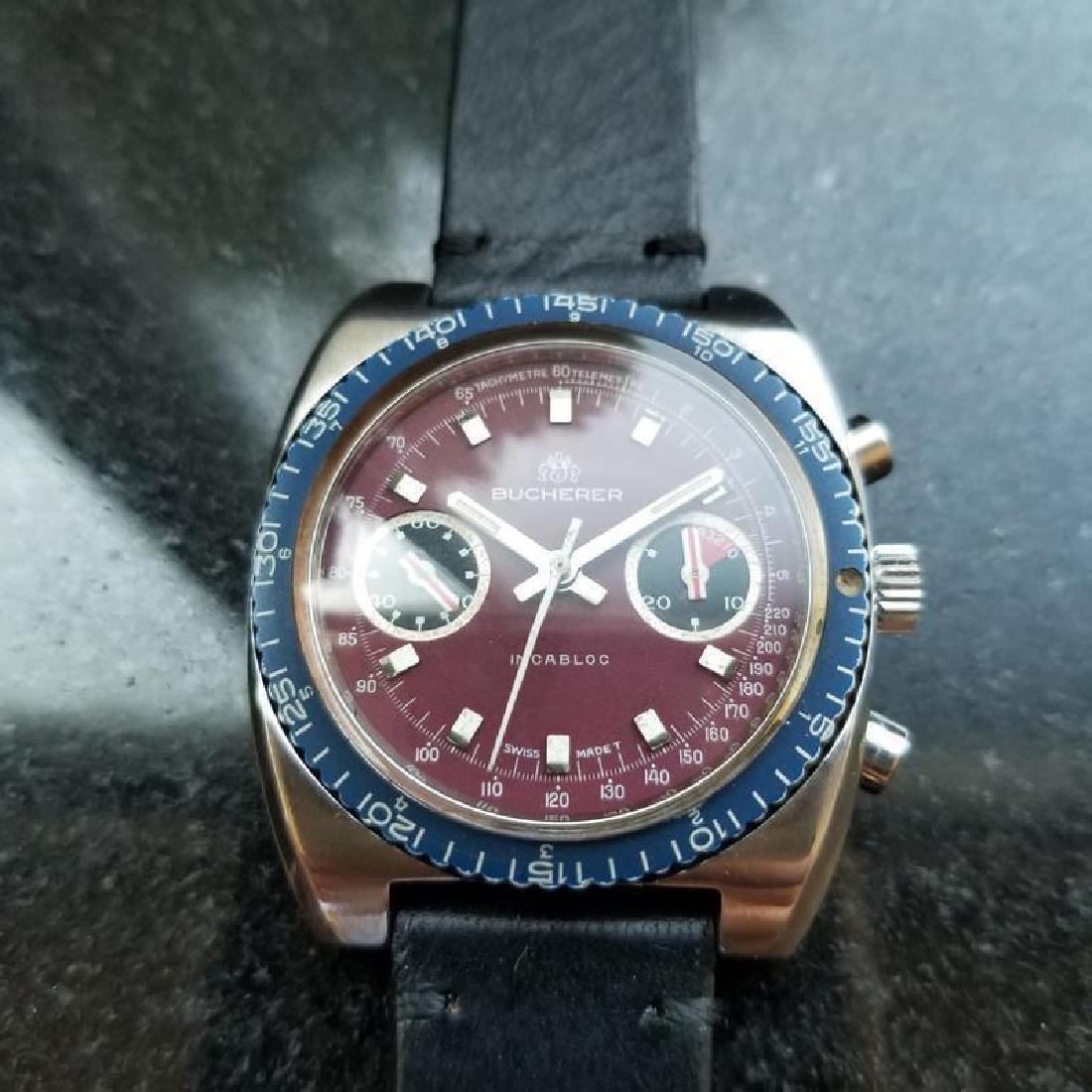 BUCHERER Men's Chronograph Valjoux cal.7733 Vintage