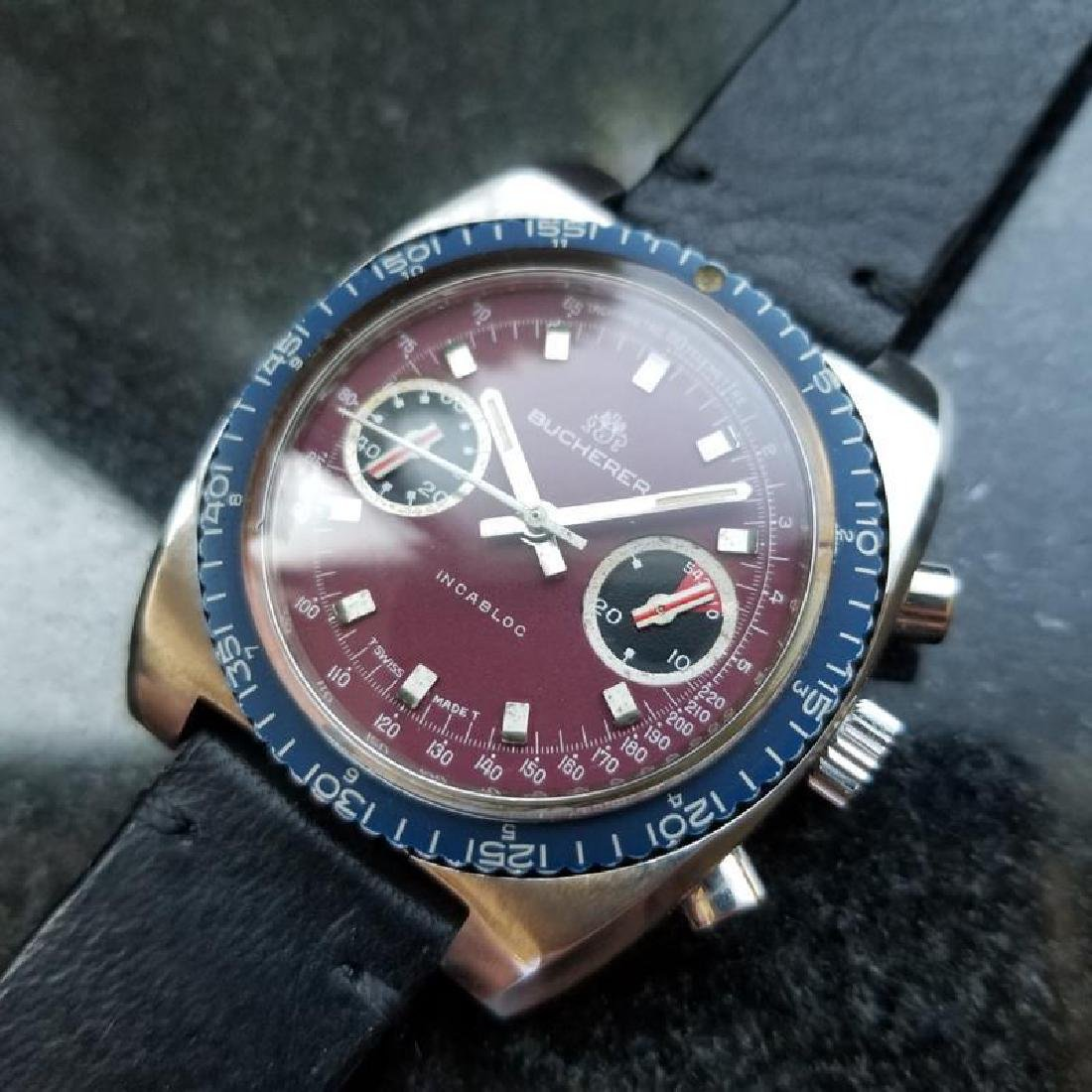 BUCHERER Men's Chronograph Valjoux cal.7733 Vintage - 2
