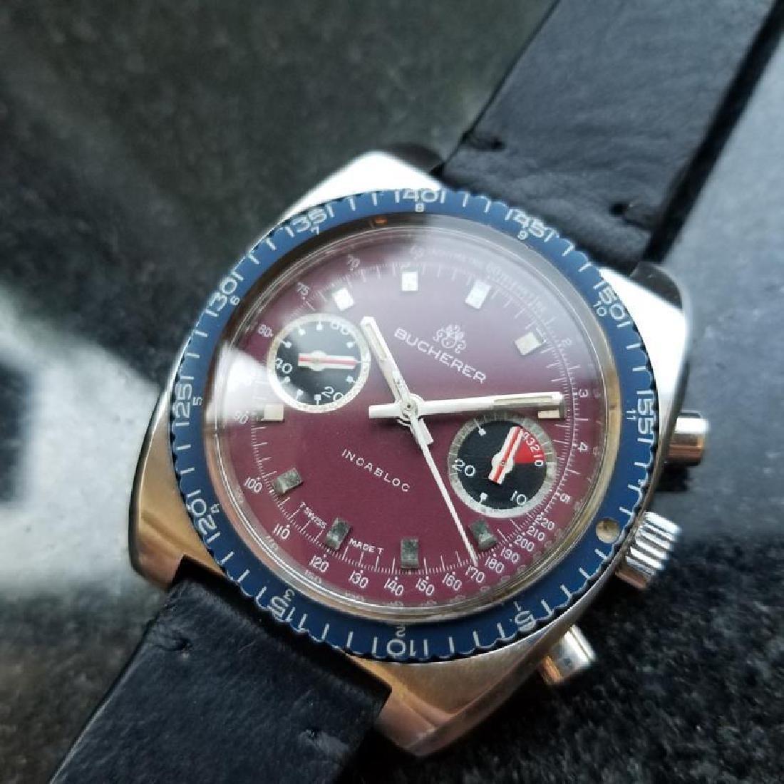 BUCHERER Men's Chronograph Valjoux cal.7733 Vintage - 3