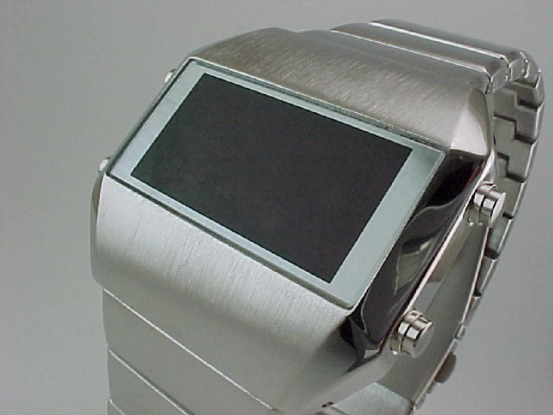 SILVER Rare Old Vintage 70s 1970s Style LED LCD DIGITAL