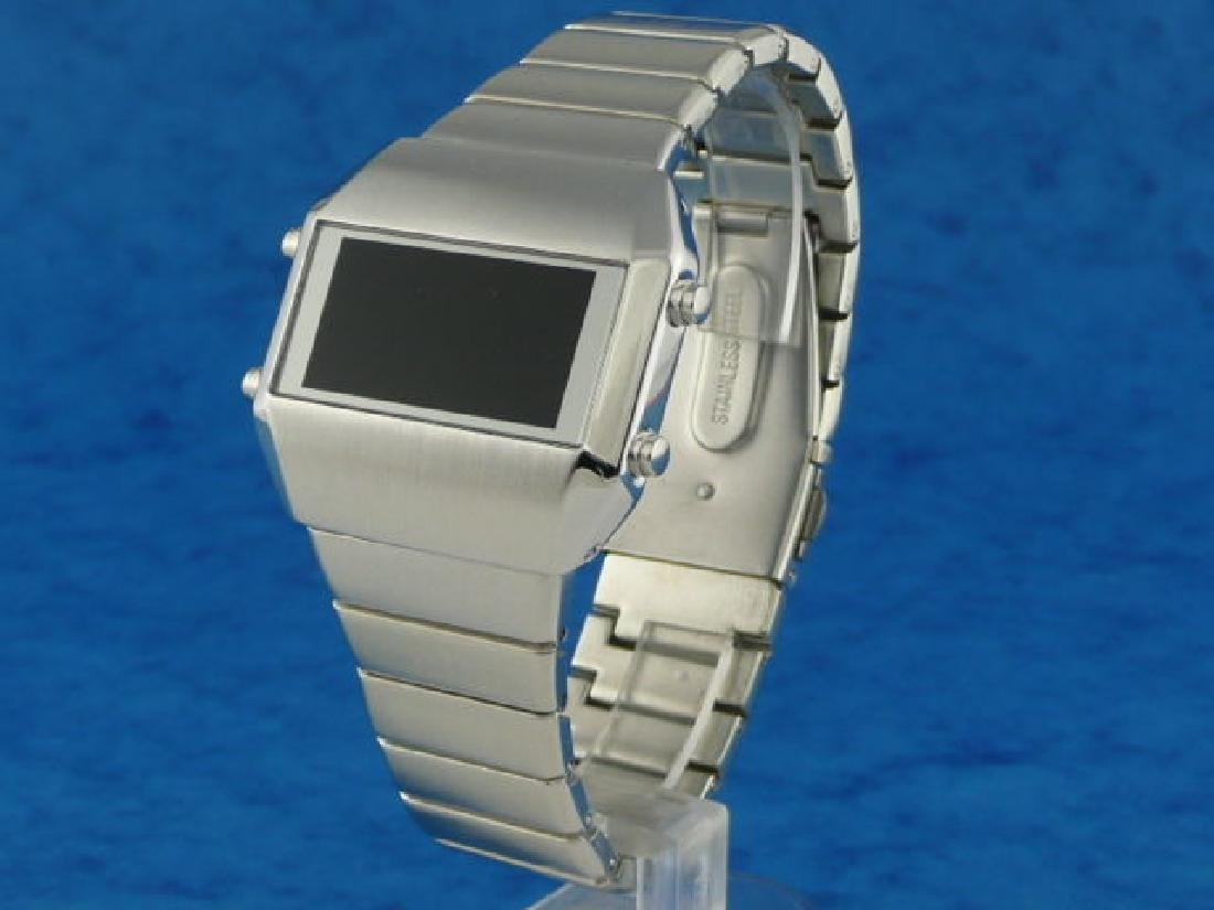 SILVER Rare Old Vintage 70s 1970s Style LED LCD DIGITAL - 2