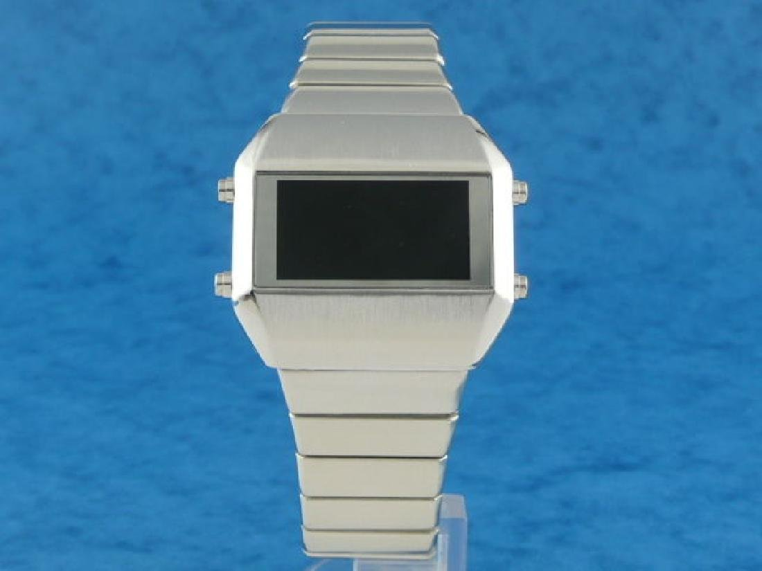 SILVER Rare Old Vintage 70s 1970s Style LED LCD DIGITAL - 3