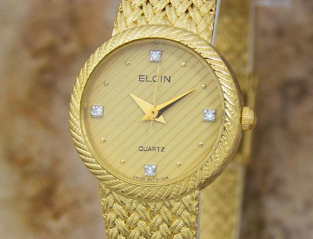 Elgin Swiss Made Ladies Gold Plated Luxurious 22mm