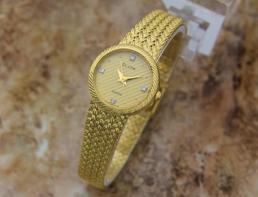 Elgin Swiss Made Ladies Gold Plated Luxurious 22mm - 2