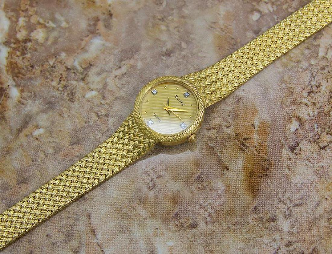 Elgin Swiss Made Ladies Gold Plated Luxurious 22mm - 7