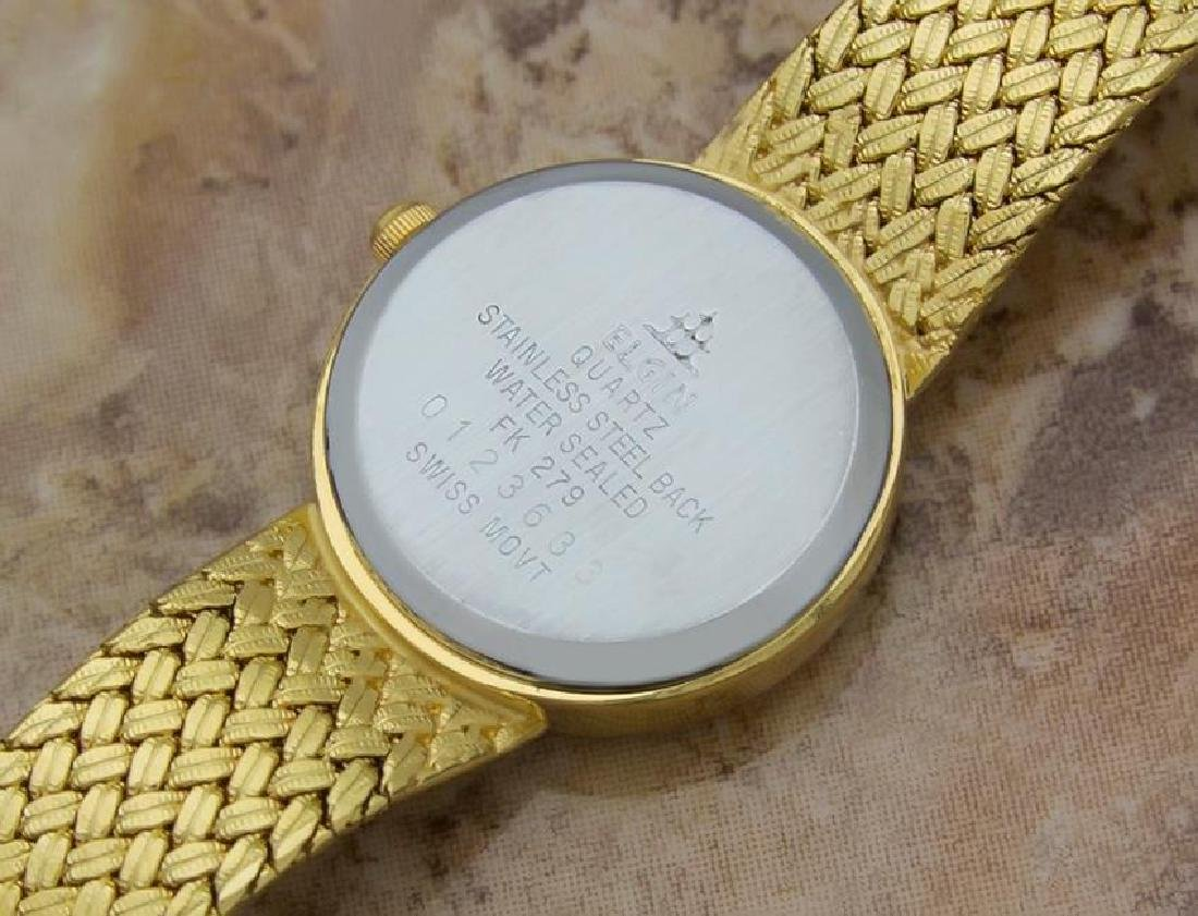Elgin Swiss Made Ladies Gold Plated Luxurious 22mm - 8