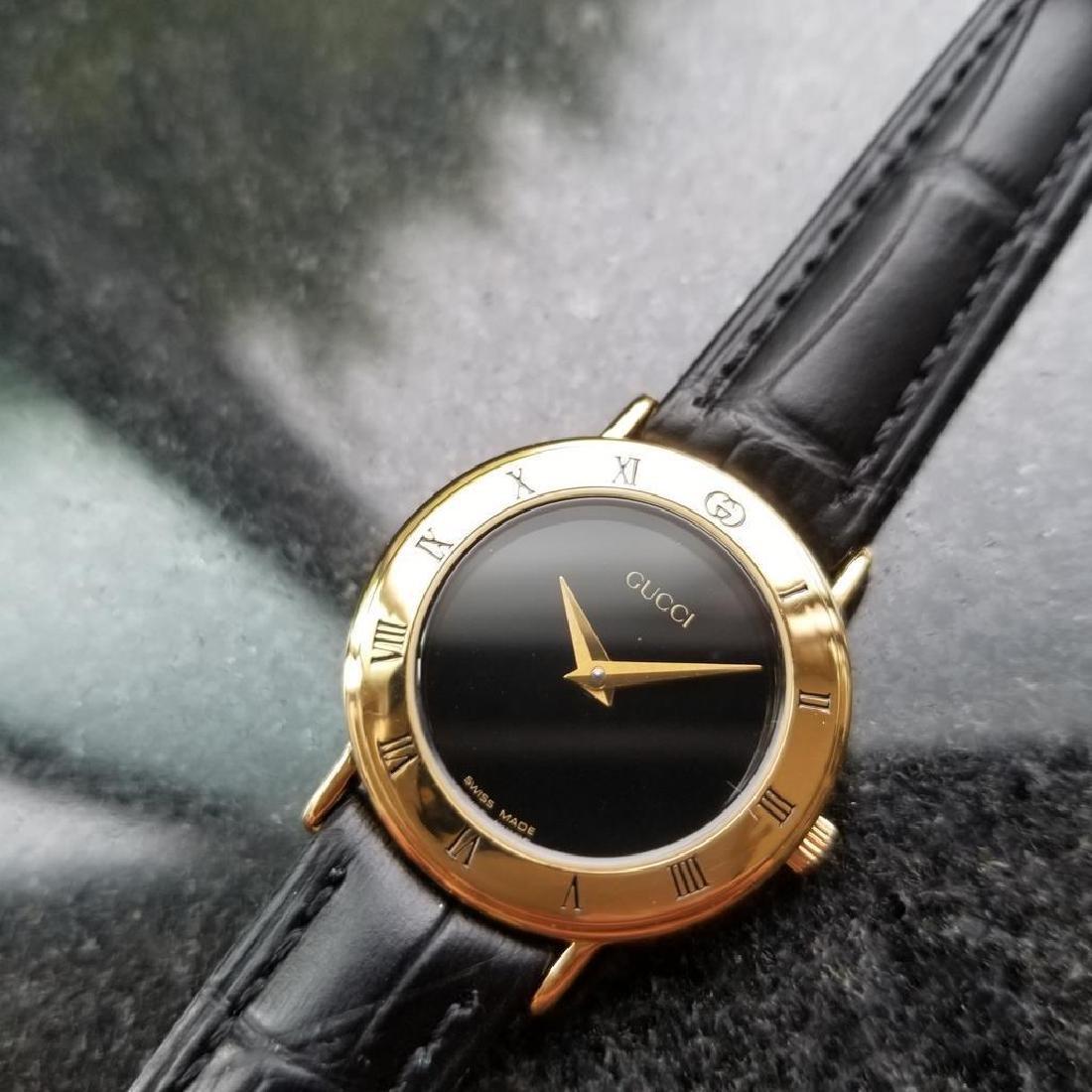 GUCCI Ladies Gold-Plated 3000.2.L Lux Swiss Dress Watch