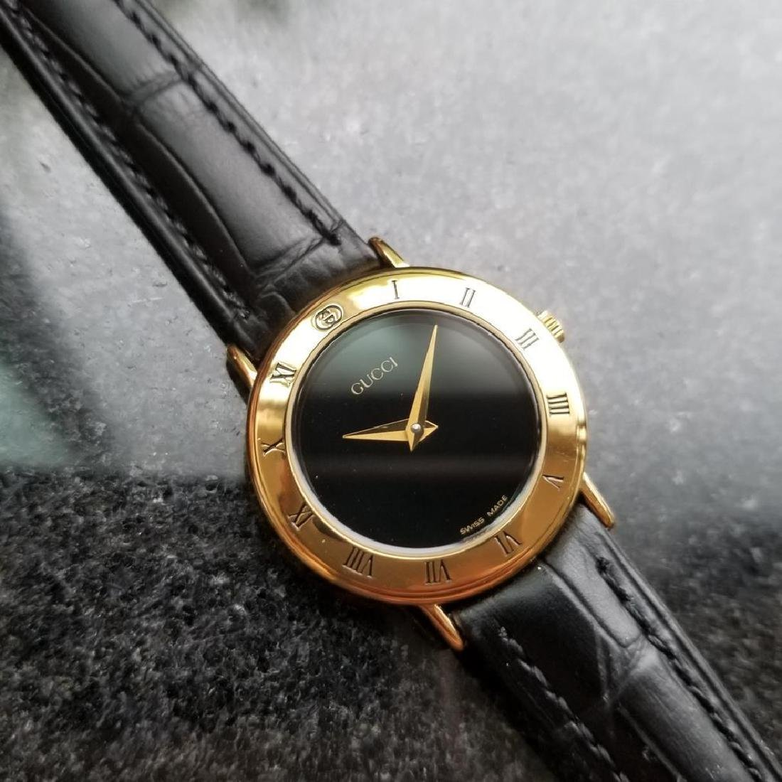 GUCCI Ladies Gold-Plated 3000.2.L Lux Swiss Dress Watch - 2