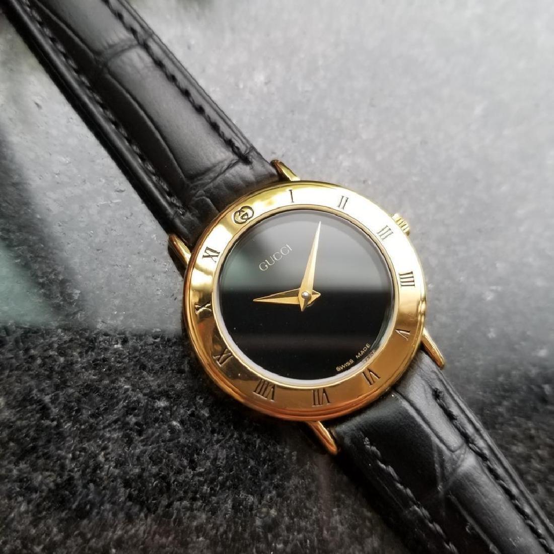 GUCCI Ladies Gold-Plated 3000.2.L Lux Swiss Dress Watch - 3