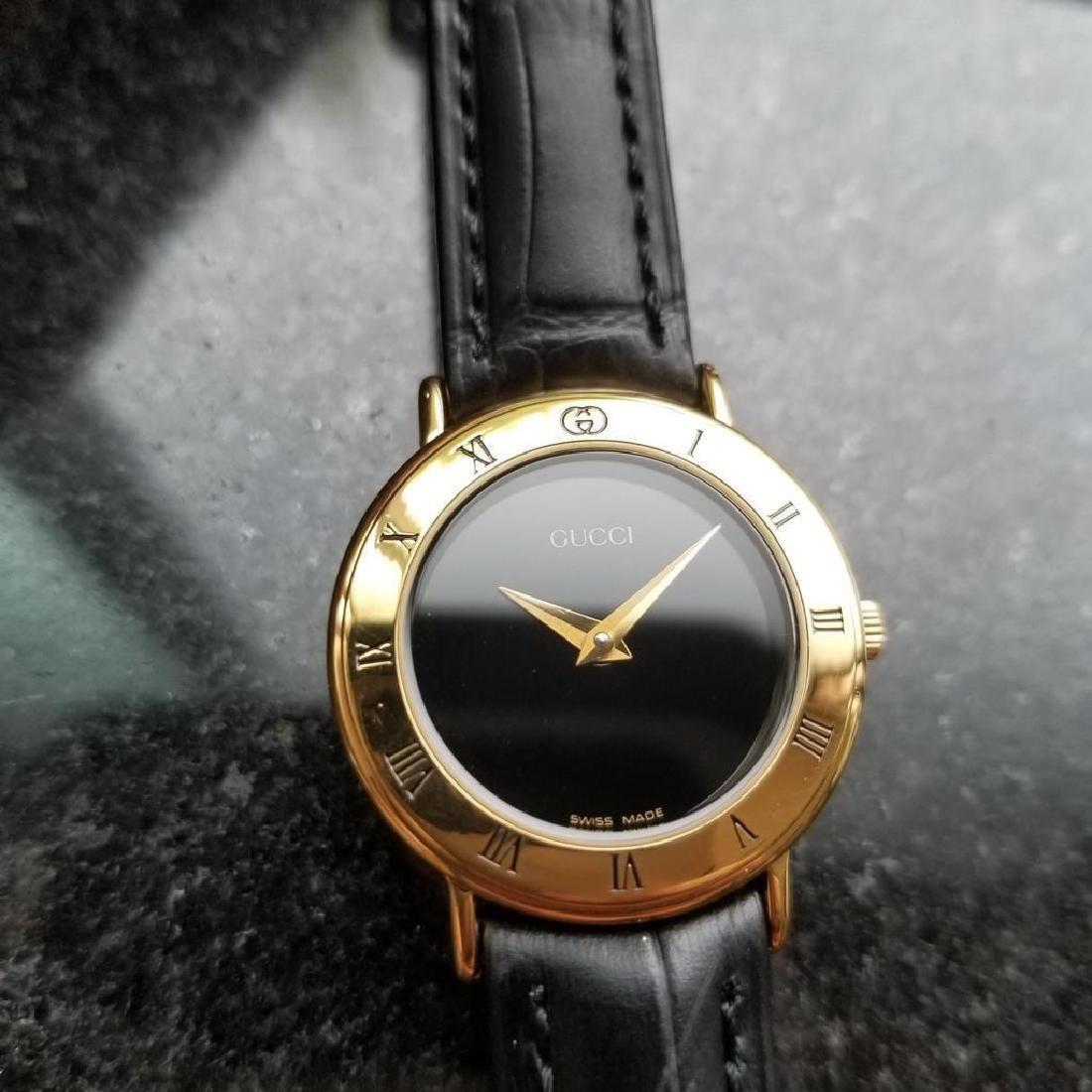 GUCCI Ladies Gold-Plated 3000.2.L Lux Swiss Dress Watch - 4