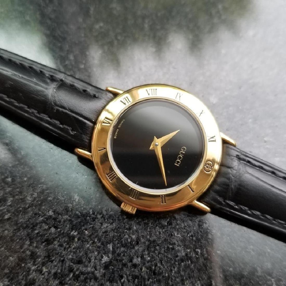 GUCCI Ladies Gold-Plated 3000.2.L Lux Swiss Dress Watch - 7
