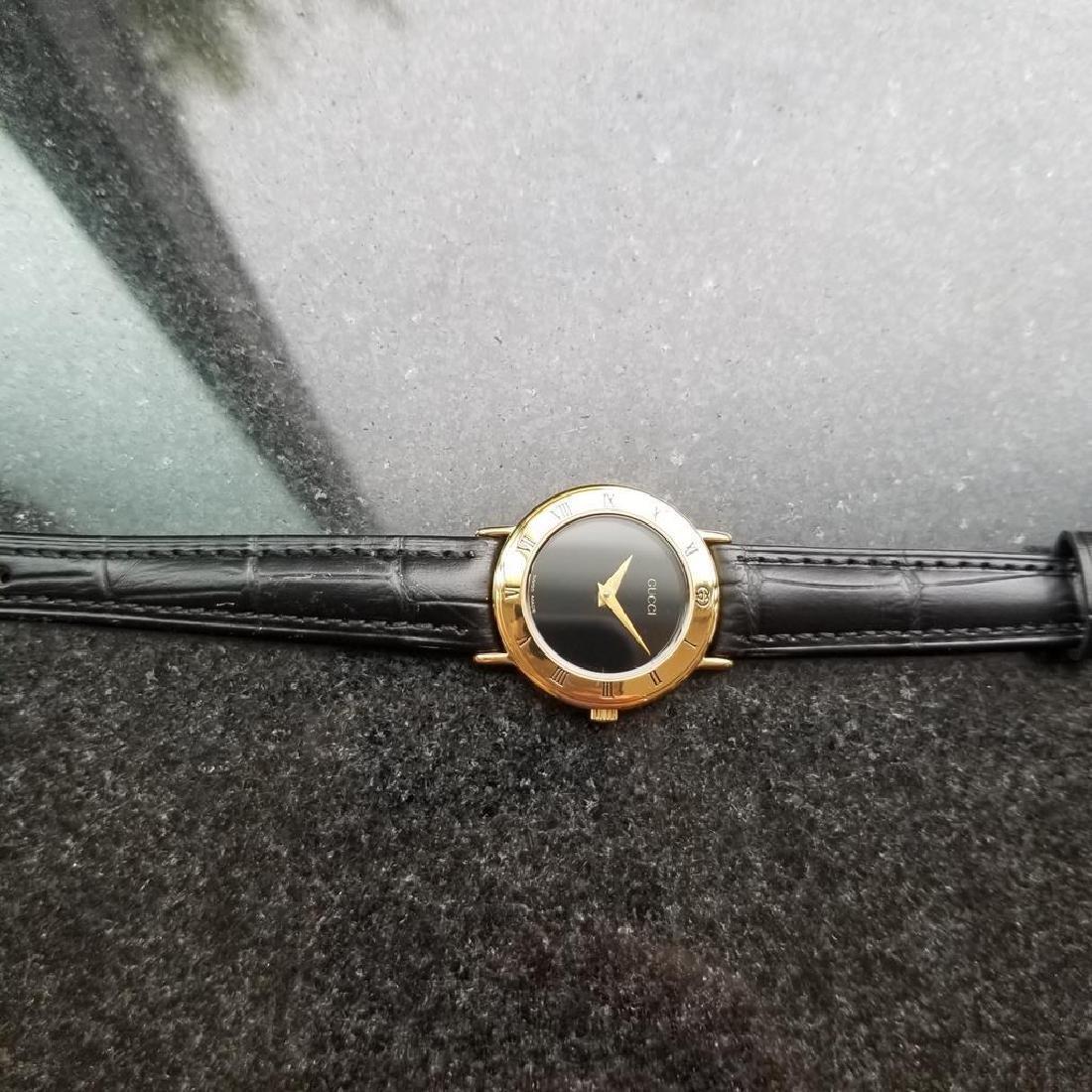 GUCCI Ladies Gold-Plated 3000.2.L Lux Swiss Dress Watch - 8
