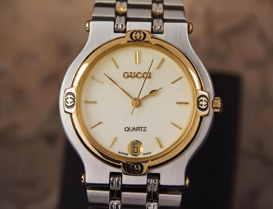 Gucci 9000M Swiss Made Stainless Steel Men's Luxury