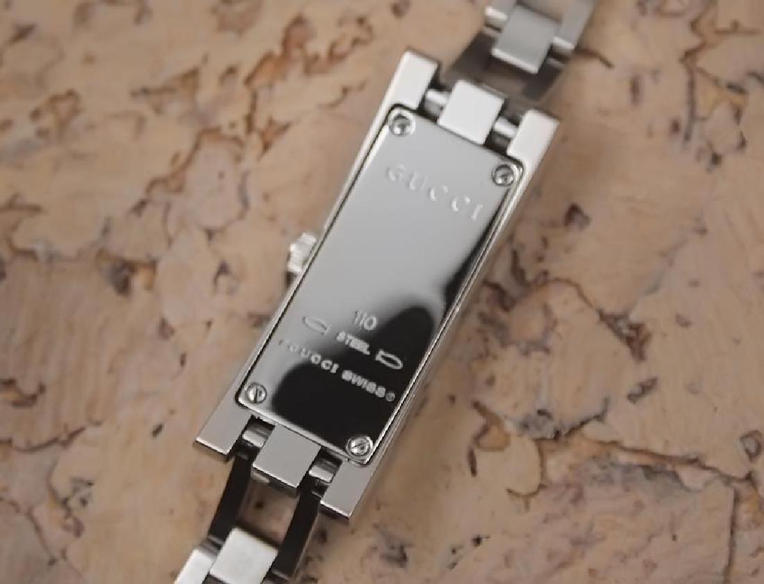 Gucci 110 Swiss Made Ladies Stainless Steel Quartz - 7