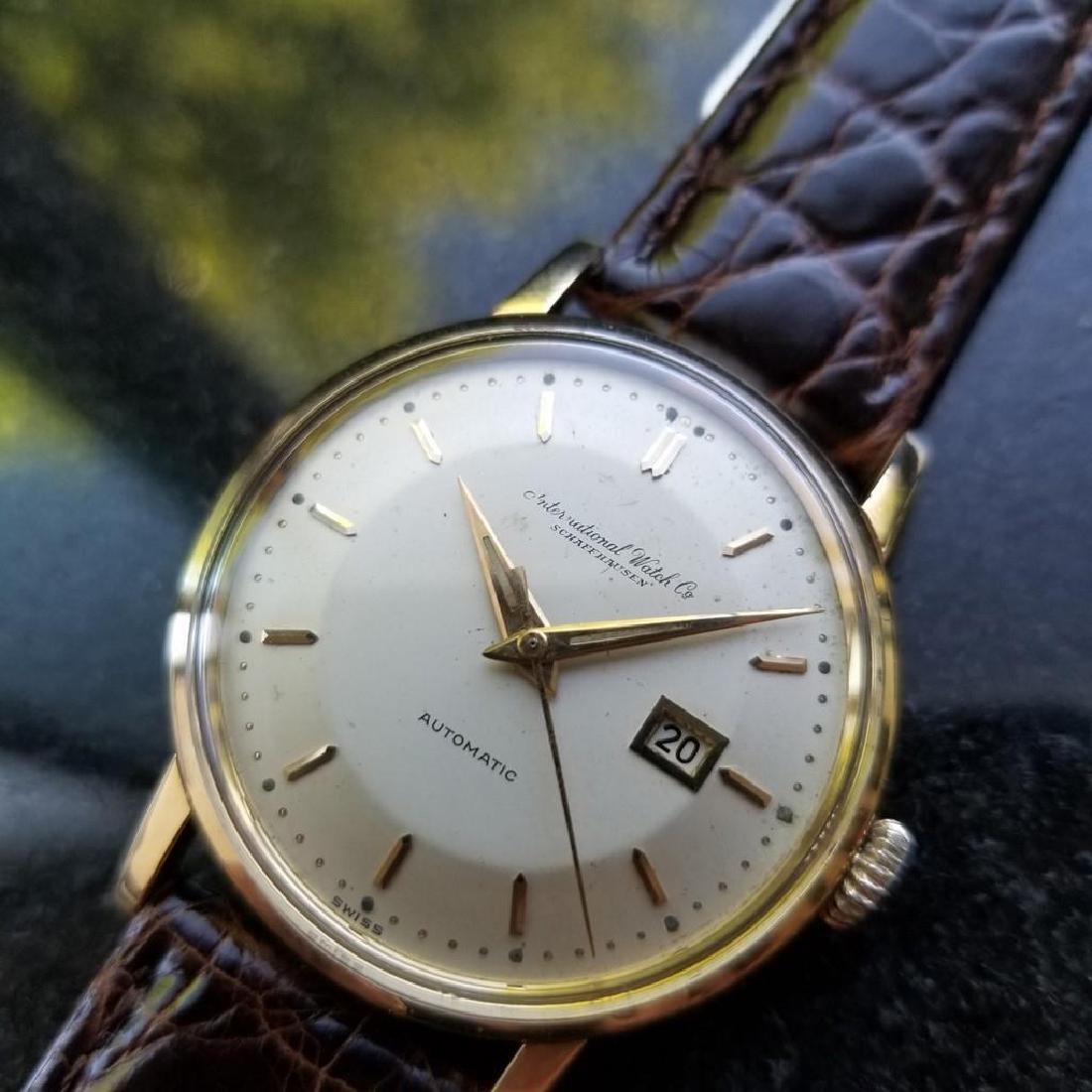 IWC Schaffhausen Men's 18K Gold Automatic Dress Watch