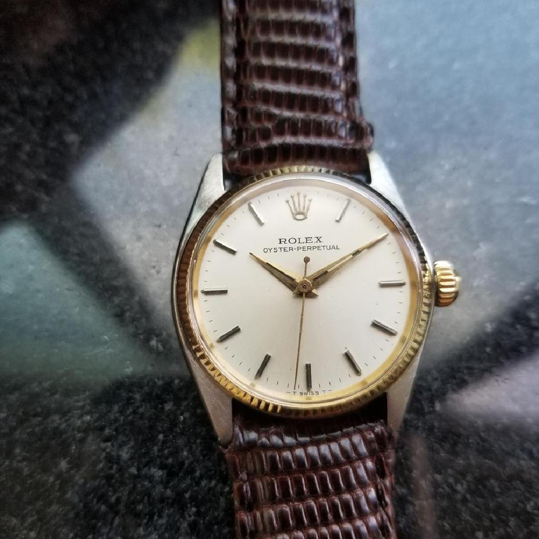 ROLEX Oyster Perpetual ref. 6551 31mm automatic 14k - 3