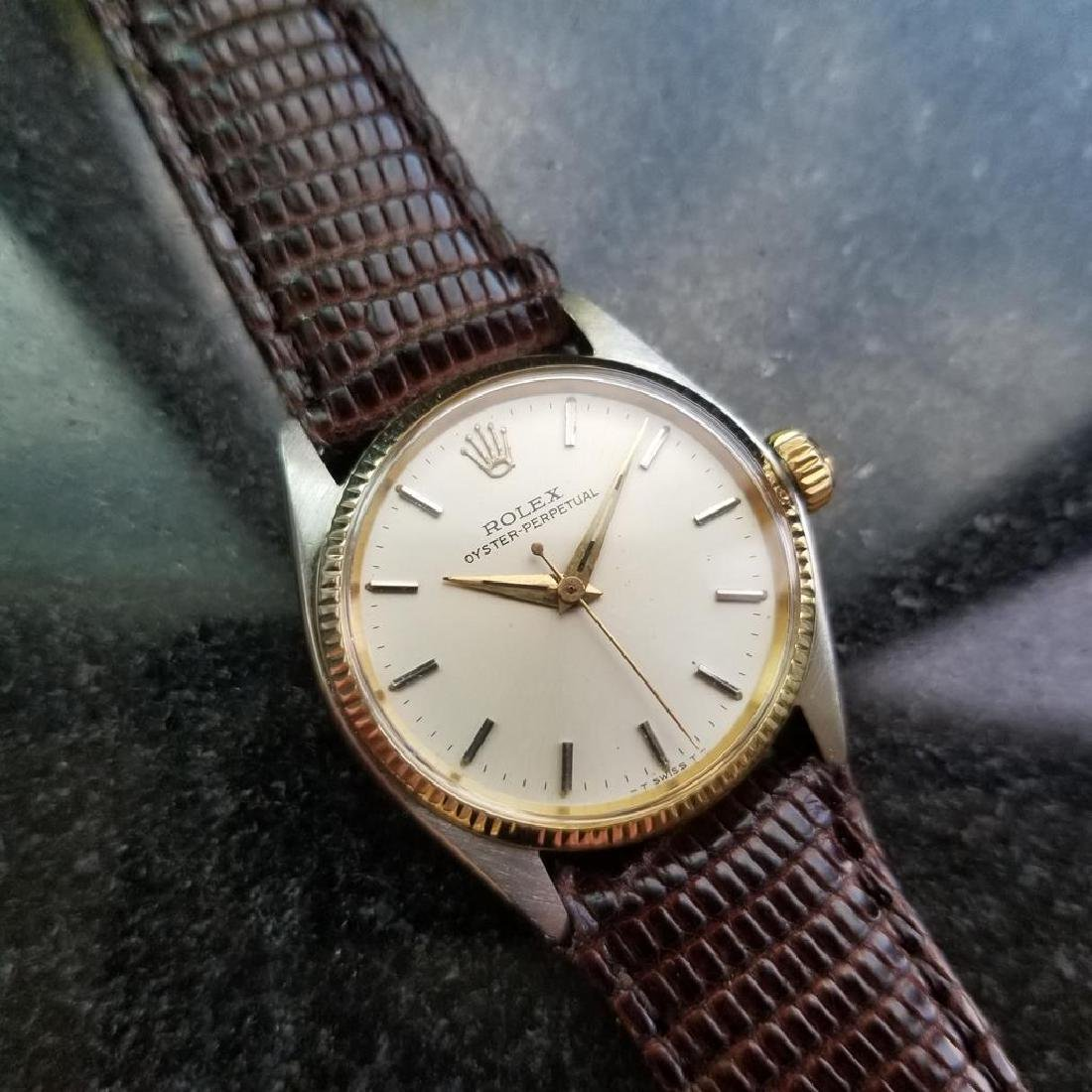 ROLEX Oyster Perpetual ref. 6551 31mm automatic 14k - 4