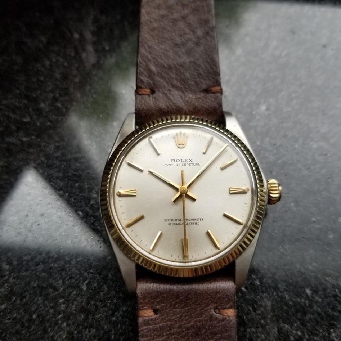 ROLEX Men's 18K Gold & SS Oyster Perpetual 1005 - 4