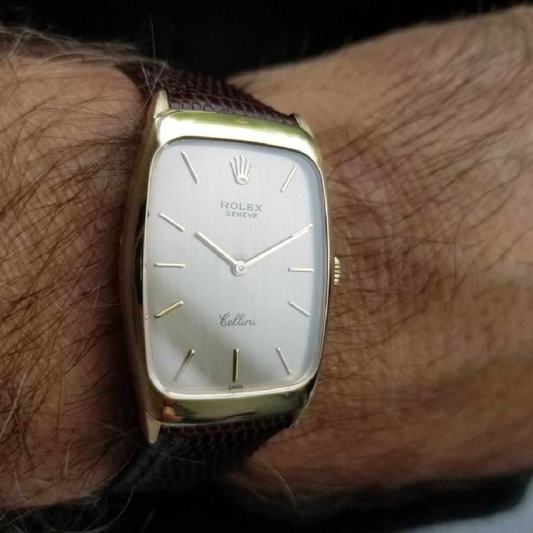 ROLEX Men's 18K Gold Cellini 4136 Hand-Wind Dress Watch - 10