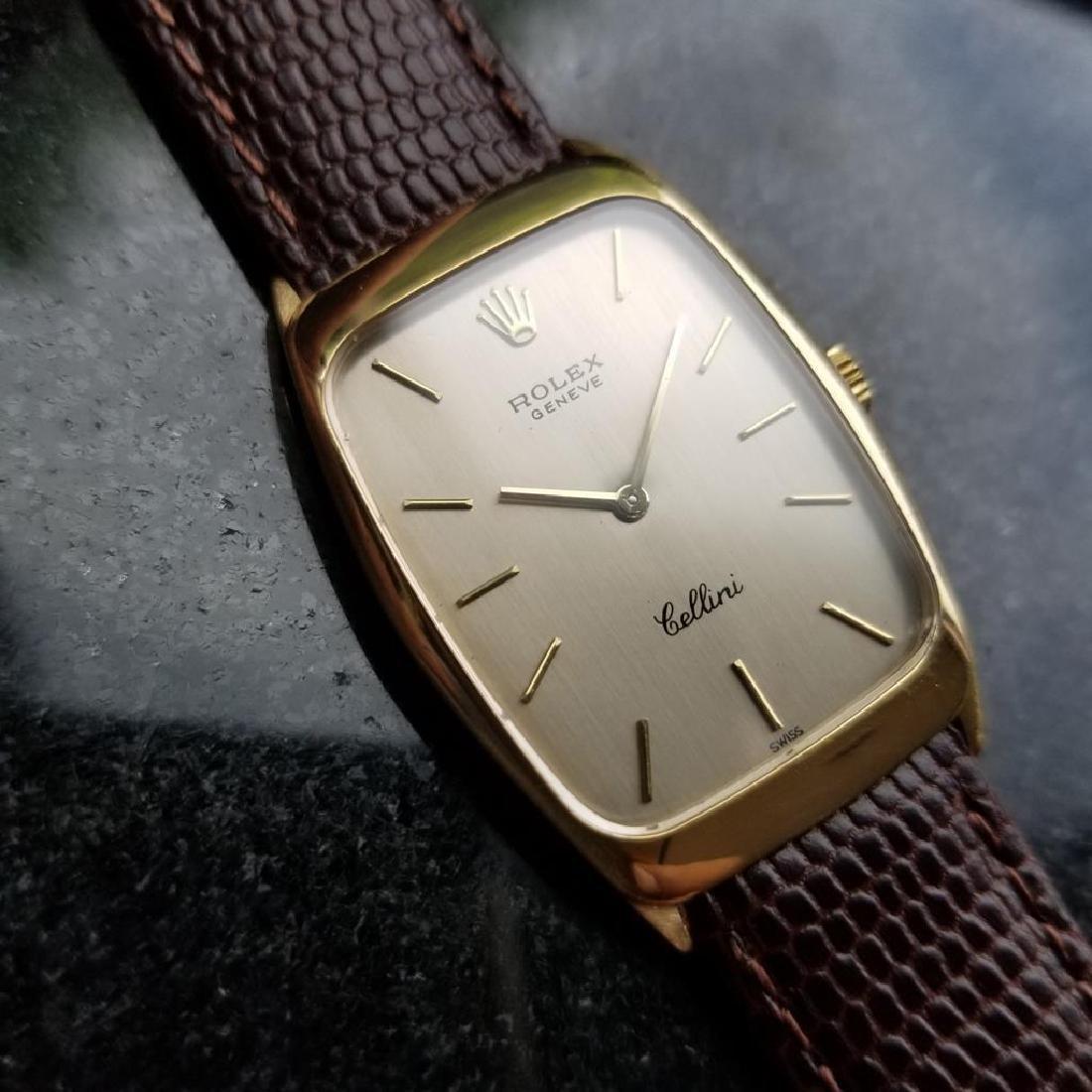 ROLEX Men's 18K Gold Cellini 4136 Hand-Wind Dress Watch - 2