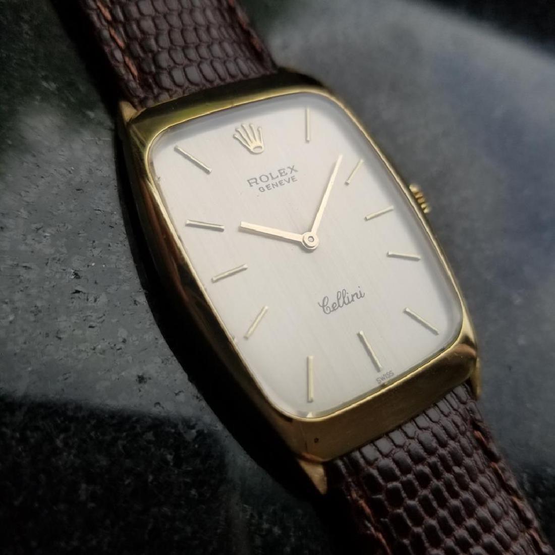 ROLEX Men's 18K Gold Cellini 4136 Hand-Wind Dress Watch - 3