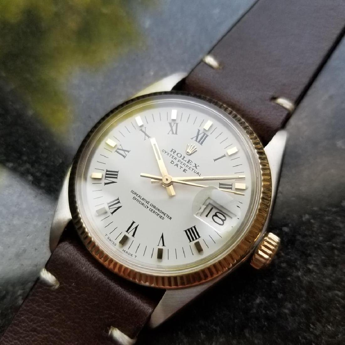 ROLEX Men's 18K Gold & SS Oyster Perpetual Date 1505