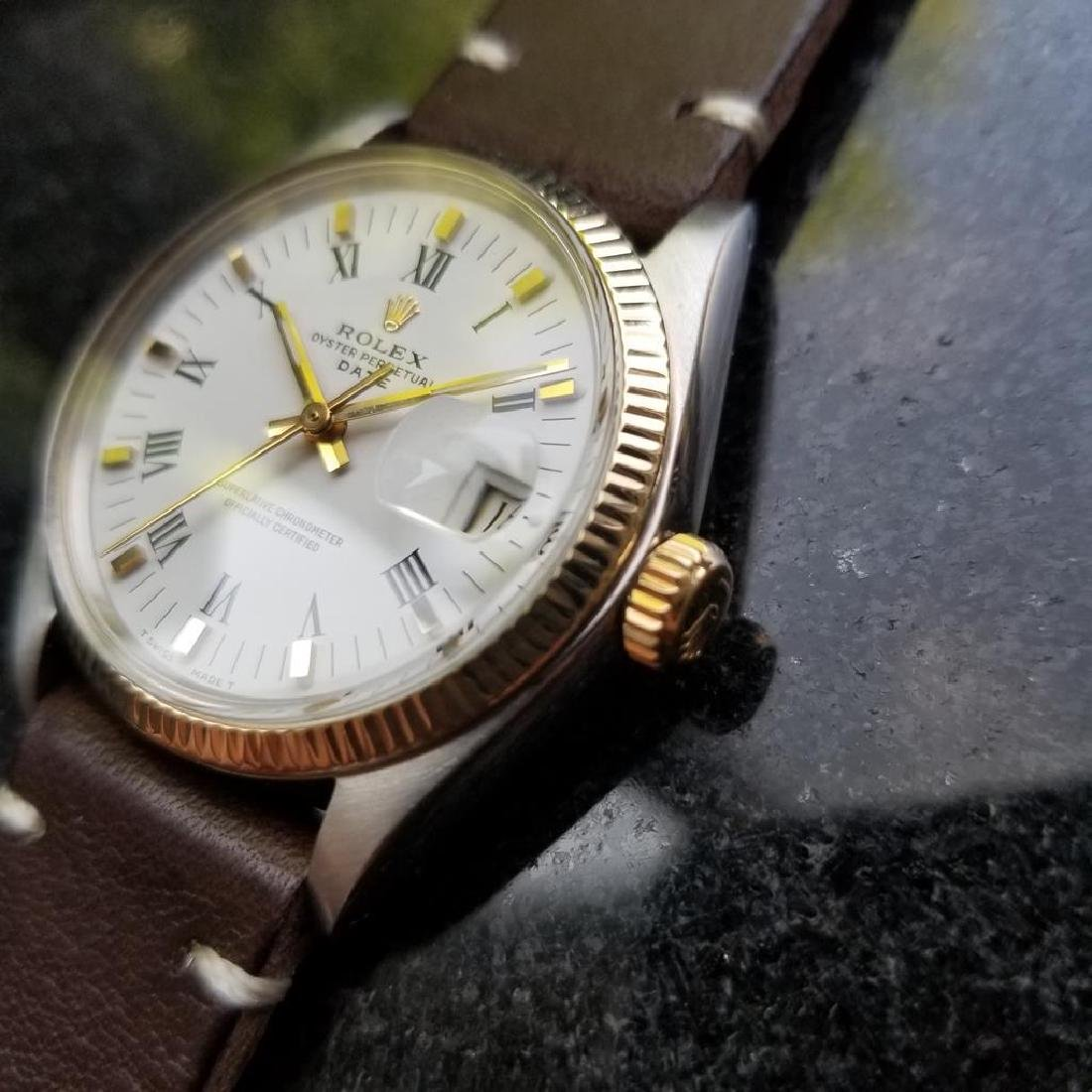 ROLEX Men's 18K Gold & SS Oyster Perpetual Date 1505 - 2