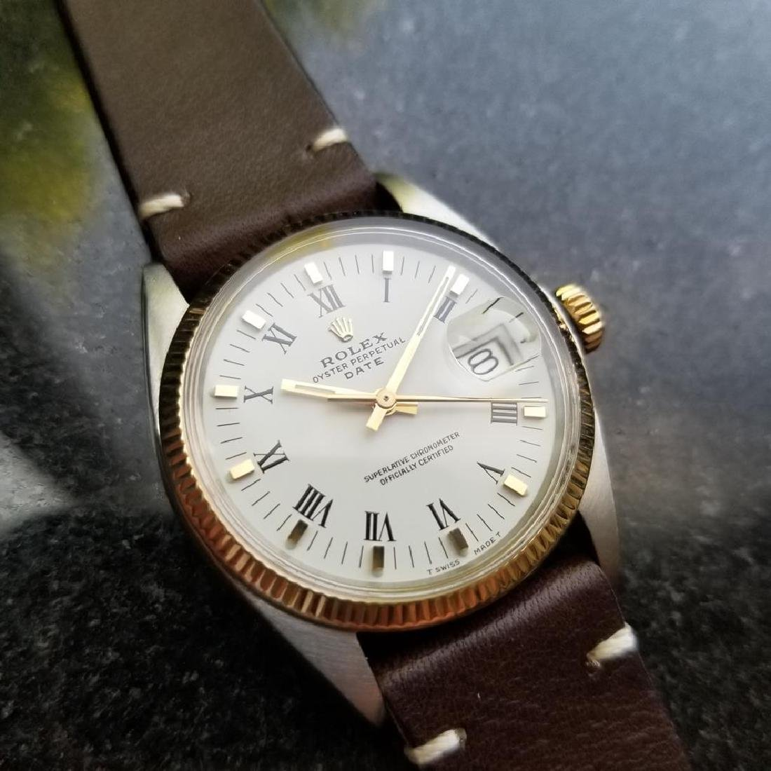 ROLEX Men's 18K Gold & SS Oyster Perpetual Date 1505 - 3