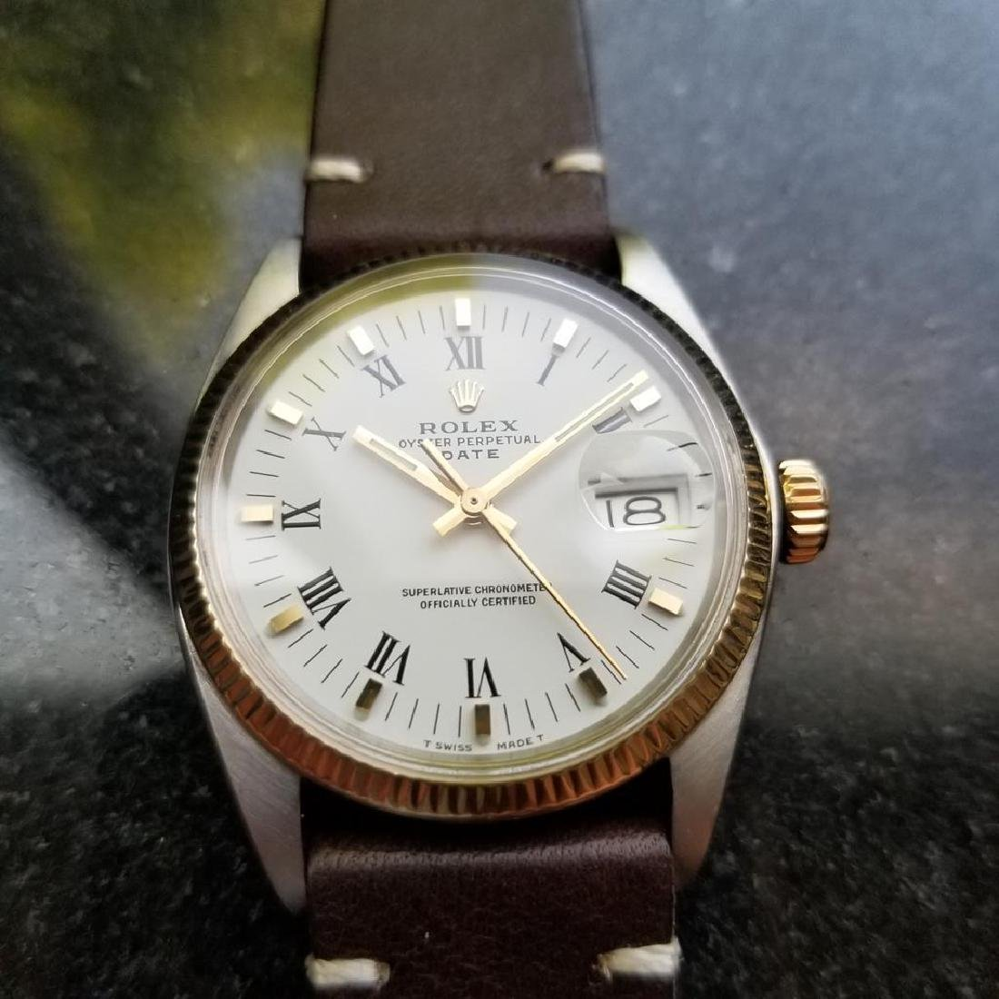 ROLEX Men's 18K Gold & SS Oyster Perpetual Date 1505 - 4