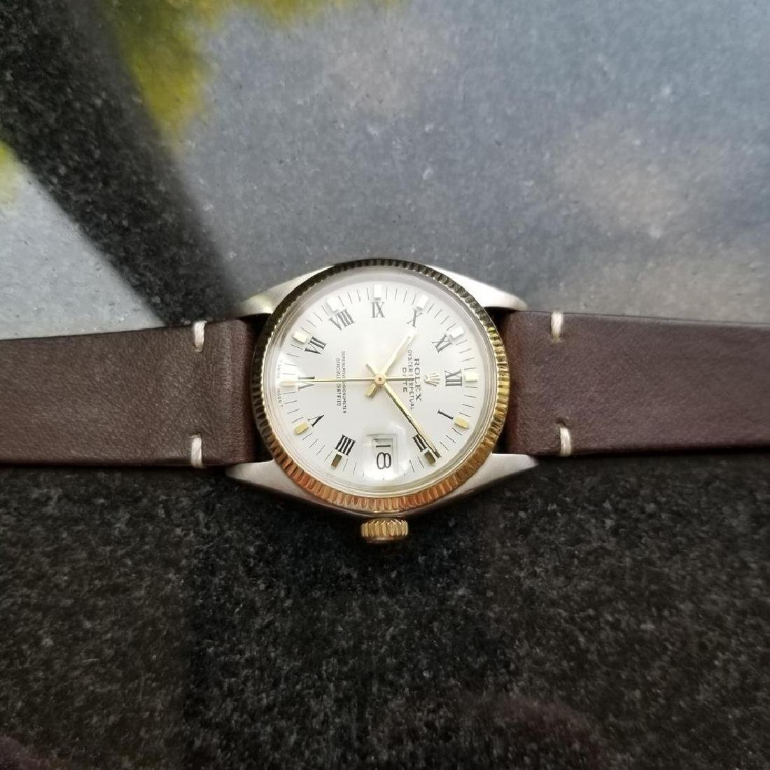 ROLEX Men's 18K Gold & SS Oyster Perpetual Date 1505 - 6