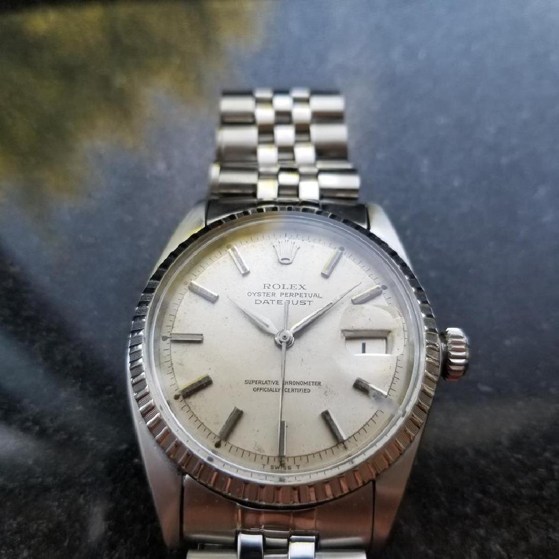 ROLEX Men's Datejust 1603 Automatic c.1965 Stainless - 3