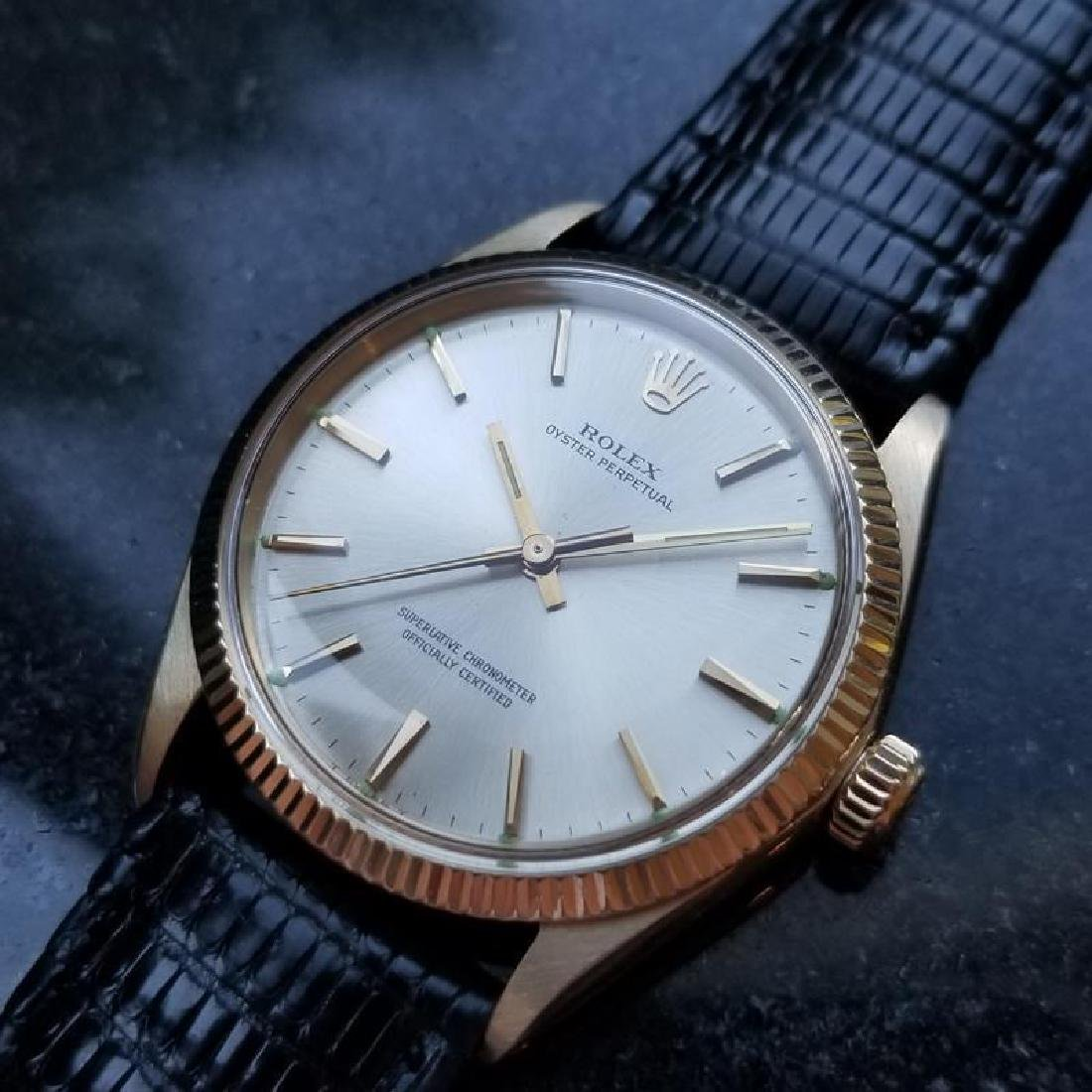 ROLEX Men's 14K Solid Gold Oyster Perpetual 1005