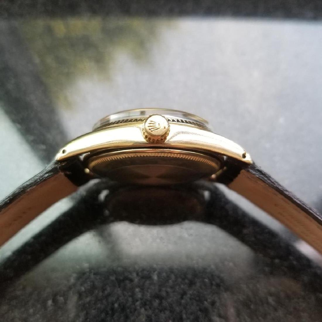 ROLEX Men's 14K Gold Oyster Perpetual 1011 Bombay - 5