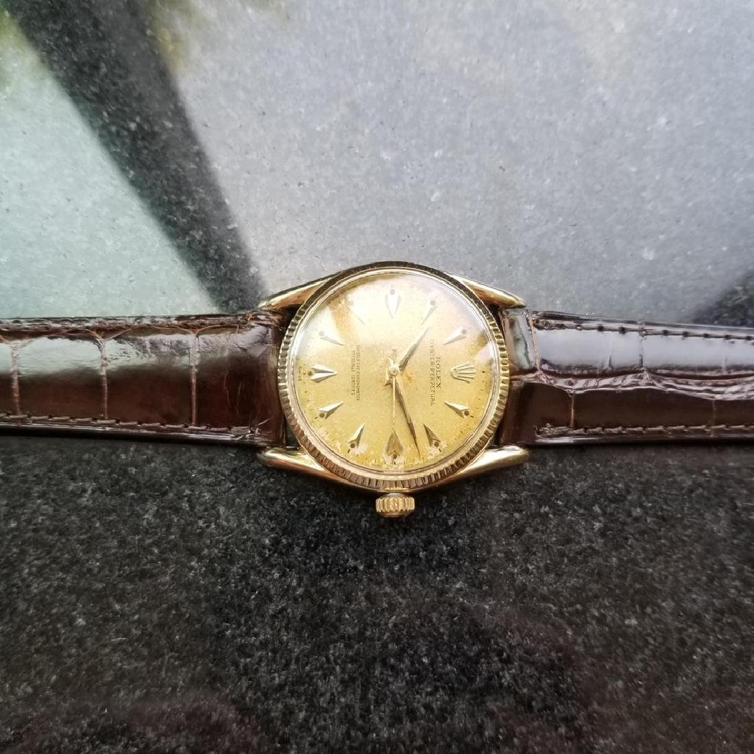 ROLEX Men's 14K Gold Oyster Perpetual 1011 Bombay - 6
